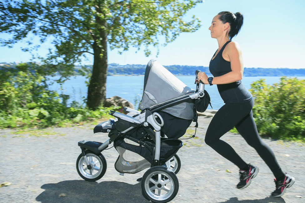 running PP with stroller